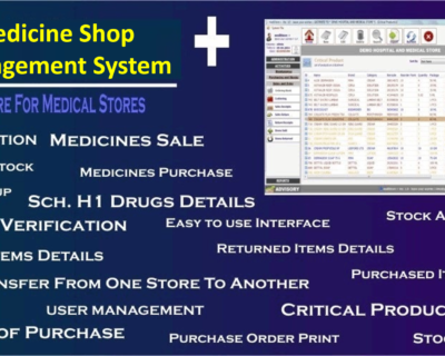 Medicine Shop Management System Project for CBSE Class 12th